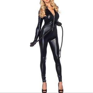 Other - Faux Leather Bodysuit w/ Zipper